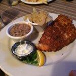panic fried flounder, cabbage, black eyed peas...$13.00