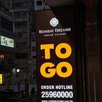 Bombay Dreams TO GO Sign