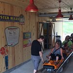 The start of the mountain coaster