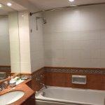 Breakfast room - tea making facility in room - bathroom - bedroom - torn bathrobes