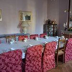 Breakfast dining room (and evening in colder weather!)