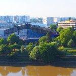Une belle vue sur le fleuve et le sud de la ville