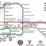 Bangkok BTS Skytrain map