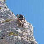 Klettern auf der Steinplatte - Klettersteig