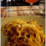 Pappardelle Cinghiale is a favourite as you drink in the atmosphere
