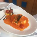 Monk Fish in a rich tomato sauce