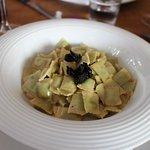 Assiette de Ravioles aux truffes.