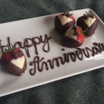Our anniversary treat on arrival!