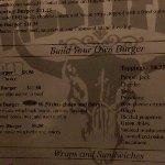 Bison burger menu