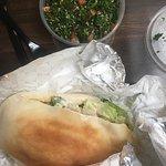 Chicken shawarma and tabbouleh salad