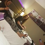 Chilling at the premier inn