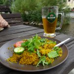 Cous-cous and beer!