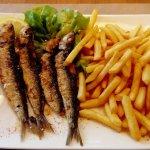 Sardines grillées - frites