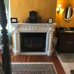 Samuel Priest room gas fireplace.....