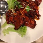 Nostalgic old school Chinese restaurant food served.  The entree platter, sweet and sour ribs, s