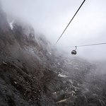 The cable car to the top to reach the glacier.
