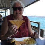 The restaurant at the end of the Bosporus! (Photo bombed by the same attractive woman,!)