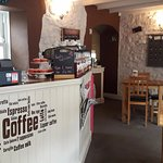 Cafe's counter and the main room