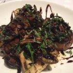 Balsamic mushrooms on bruschetta