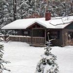 Buckeye Cabin in the Snow