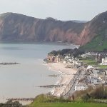 Sidmouth - panorama from the hills