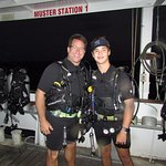Getting ready for our night dive