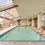 Heated indoor salt water pool