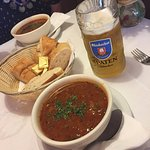 Starters: Soup and a pilsner.