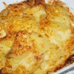 Baked scallopped potatoes au gratin