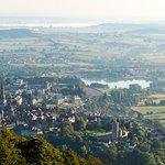 Vue de la ville d'Autun depuis la croix de la libération