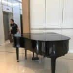 Piano in the reception area