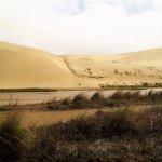 Sand dunes to slide down.