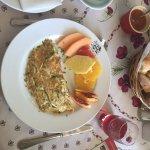 Delicious omelette breakfast & coffee