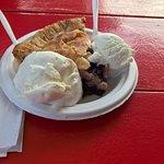 Maine Blueberry pie ala mode for Dessert