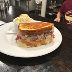 Wayside Rueben topped with kraut and coleslaw