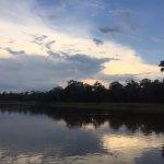 Amazon river at dusk