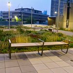 A gorgeous pocket park atop Fire Station 1, next to the Delta Hotel
