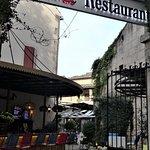 Bar and courtyard