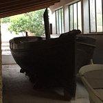 Barca di Garibaldi a remi poi trasformata a vela