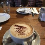 Tummy warming Irish coffee and a delicious decaf cappuccino in a warm & inviting environment. A