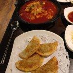 Ddok boki and dumplings