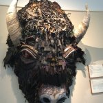 Buffalo made out of assorted items.