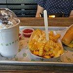 Shake, cheese fries, shack burger