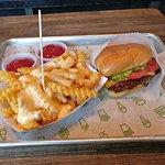 Cheese fries and shack burger