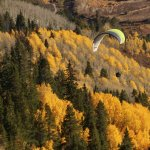 Flying over the fall colors is the best! Come join us- Aspenparagliding.com