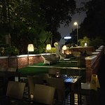 Outside seating at Jim Thompson's