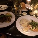 Stuffed Salmon on the left, Filet on right. Great!
