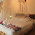 This air-conditioned suite features Mayan-style architecture, ceiling fan, mini fridge with a we
