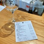Tasting menu & glass