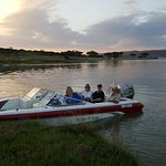 Sunset Boat cruise at Spion Kop Lodge.